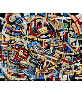 Abstraction des restes n°27 - Acrylique sur toile de Didier Delgado