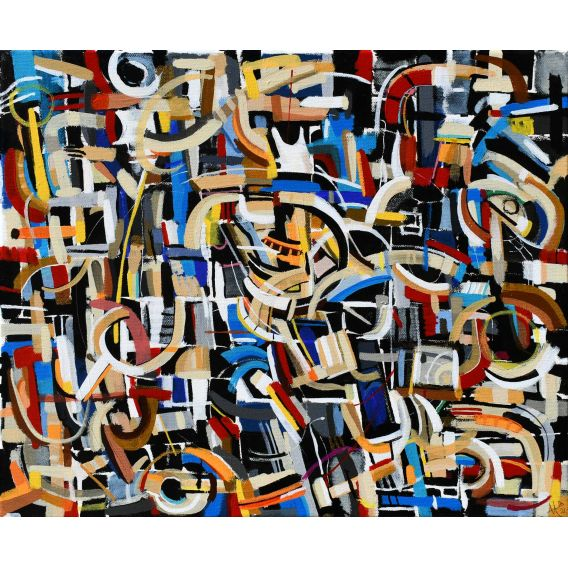 Abstraction of the remains n°28 - Acrylic on canvas by Didier Delgado