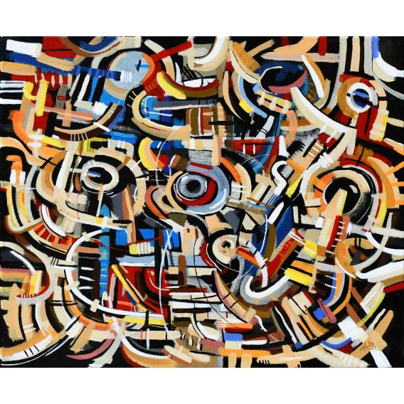 Abstraction of the remains n°29 - Acrylic on canvas by Didier Delgado