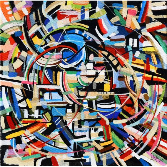Abstraction of the remains n°26 - Acrylic on canvas by Didier Delgado