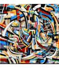 Abstraction of the remains n°30 - Acrylic on canvas by Didier Delgado