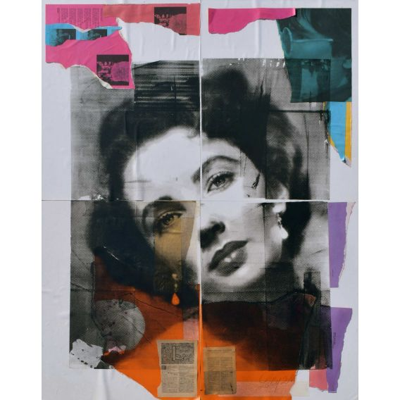 Liz Taylor - Painting by Lilly