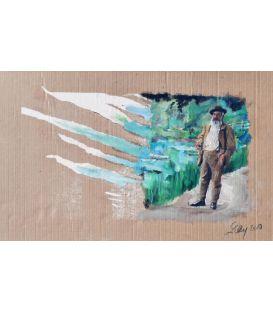 Claude Monet devant Giverny