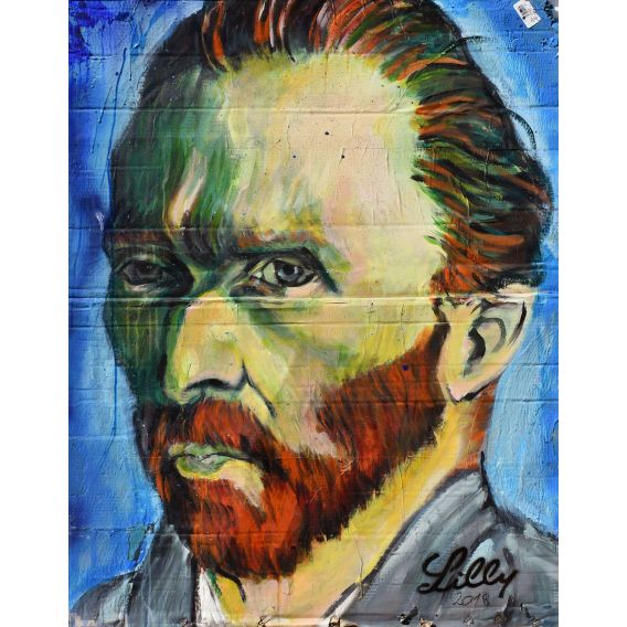 Portrait of Van Gogh - Painting by Lilly
