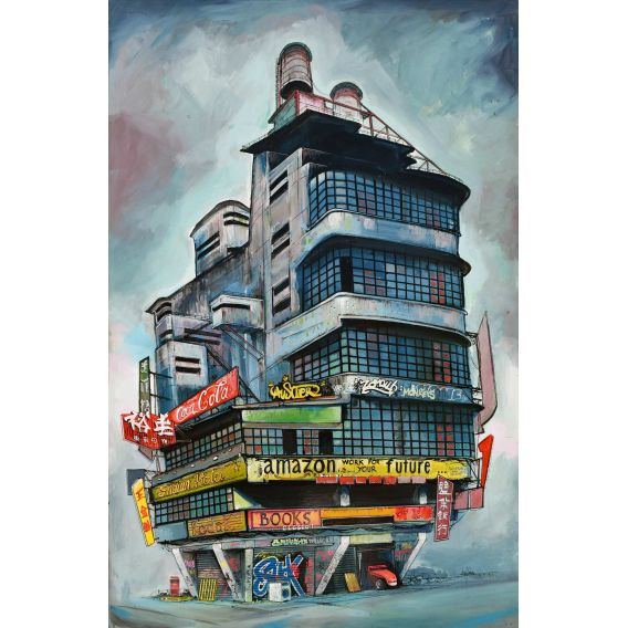 Work for your future - Painting by Bertrand Lefebvre
