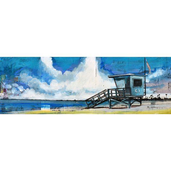 Lifeguard hut 52 - Painting by Bertrand Lefebvre