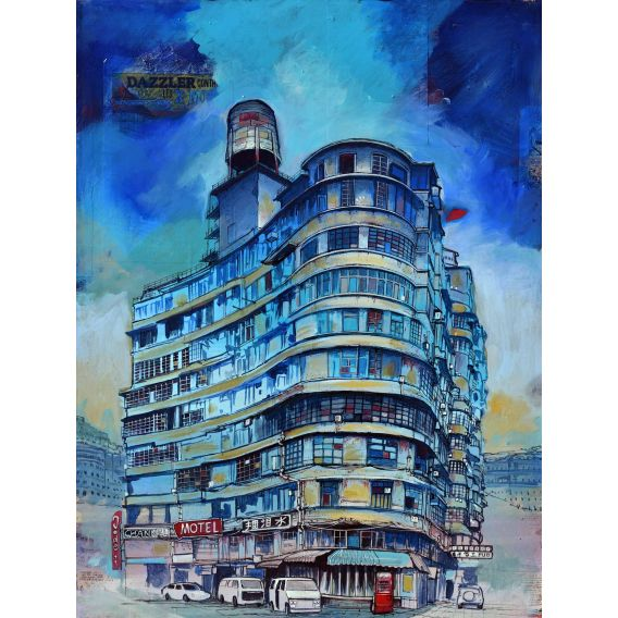 Buildings - Painting by Bertrand Lefebvre