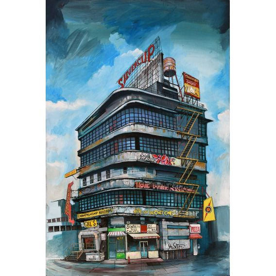 Silvercup Studios Long Island City, Queens - Painting by Bertrand Lefebvre