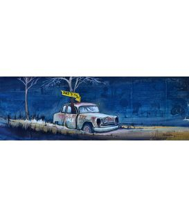 La voiture à papa - Tableau de Bertrand Lefebvre