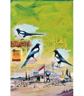 Les oiseaux (Hitchcock) - Tableau de Bertrand Lefebvre