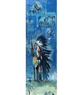 Grand chef sioux - Tableau de Bertrand Lefebvre