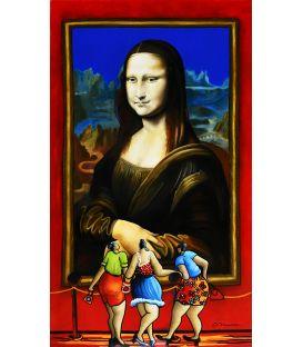 Julie et ses amies devant la grande Mona