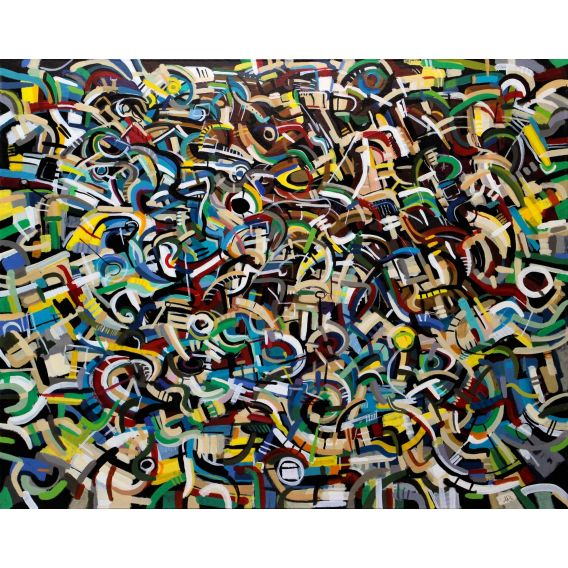 Abstraction of the remains n°31 - Painting on canvas by Didier Delgado