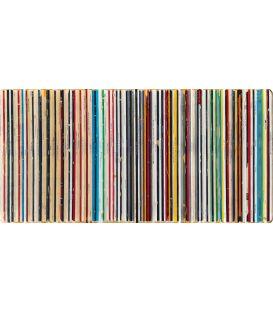 Five Fish Species - Jean-Michel Basquiat - Bande son n°107 - Table peinte par Didier Delgado