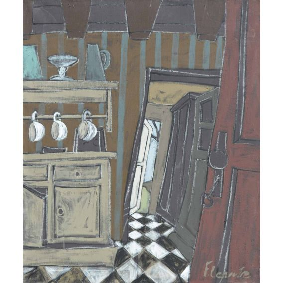 The cupboard and 3 cups