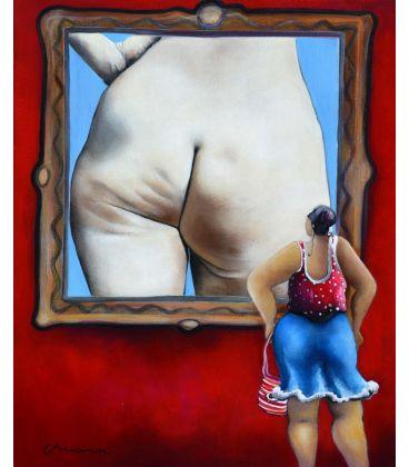 Julie devant l'étude de fesses de Felix Vallotton