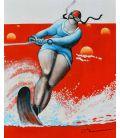 Compétition de ski nautique - Dossard numéro 1