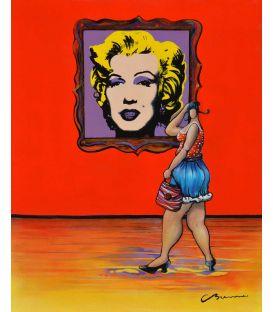 """Julie devant un """"Andy"""" (Warhol)"""