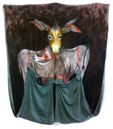 The donkey with bags