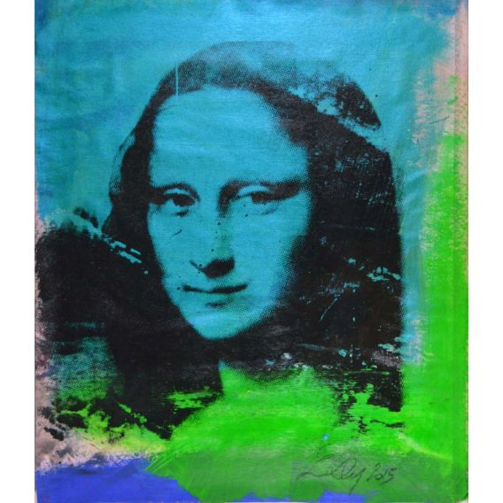 Mona Lisa blue