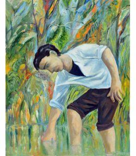 L'homme dans l'étang