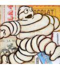 Bonhomme Michelin sur fond de publicité n°1