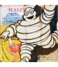 Michelin Man on advertising background n°3