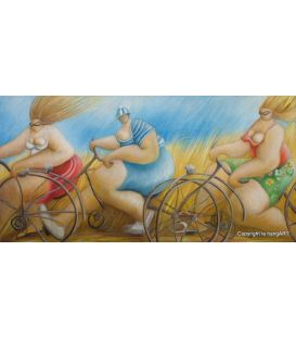 Cyclists in summer