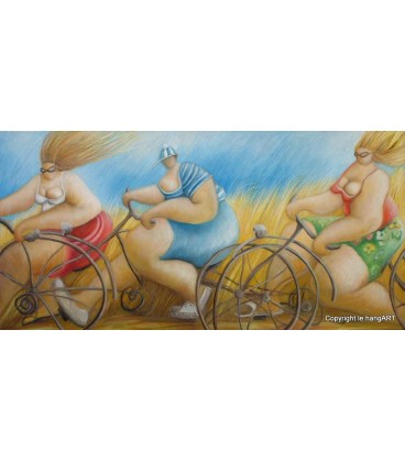 Les cyclistes en été