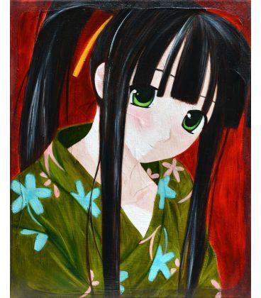 The gold of their bodies - Manga wearing a kimono
