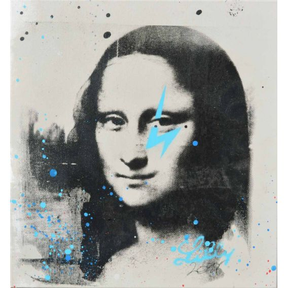 Mona Lisa gris et bleu