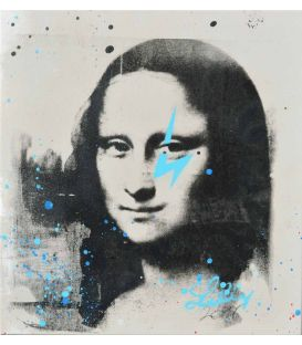 Mona Lisa gray and blue