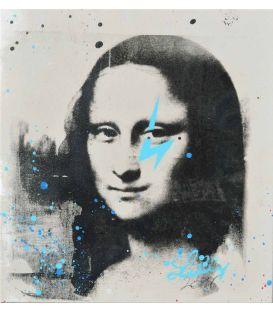 Mona Lisa gray and blue