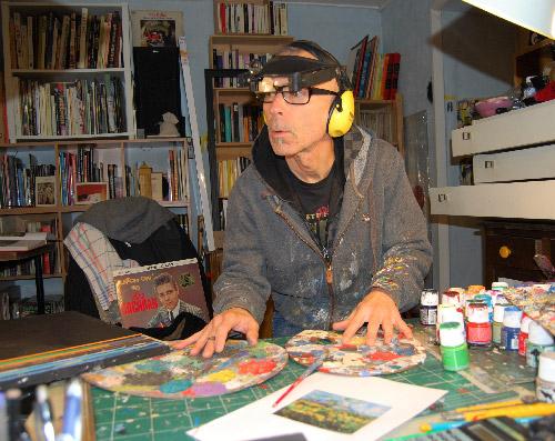 Didier Delgado au travail